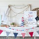 Nautical 4th of July Mantel Decorations