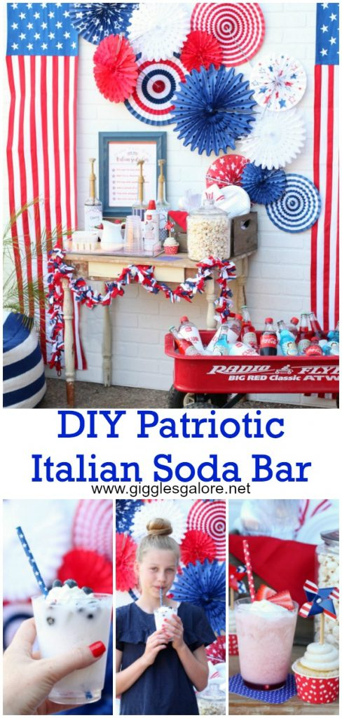 Diy patriotic italian soda bar pinterest