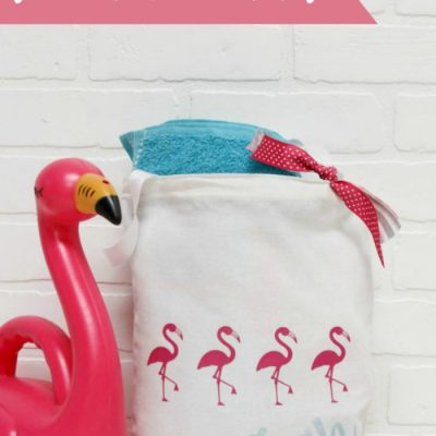 Simple Flamingo Beach Bag Gift Idea