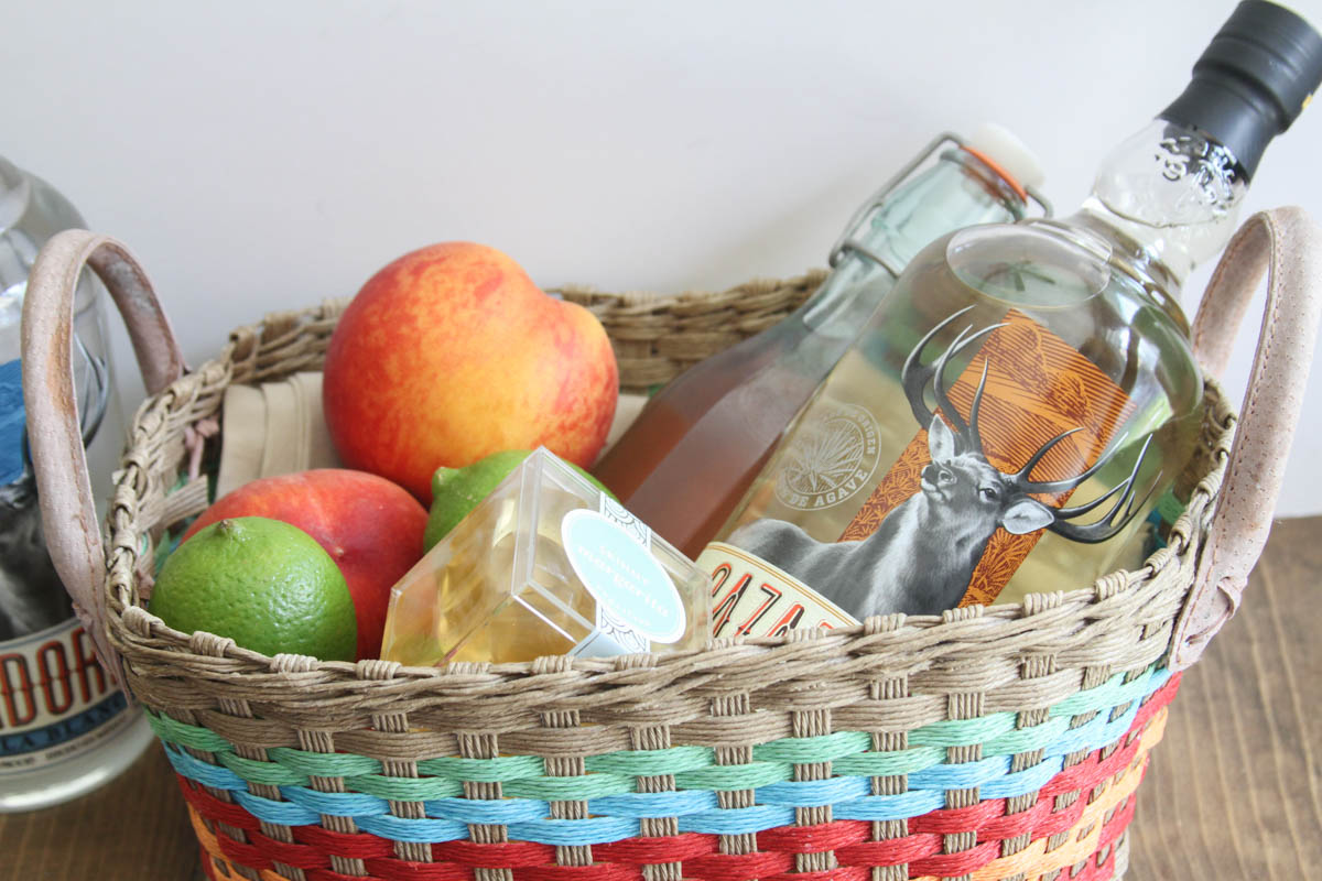 Everyday Party Magazine Peach Margarita Gift Basket. Peach Margarita Gift Basket Giggles Galore