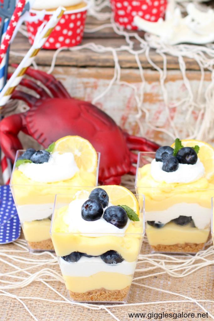 Lemon blueberry cheesecake parfait