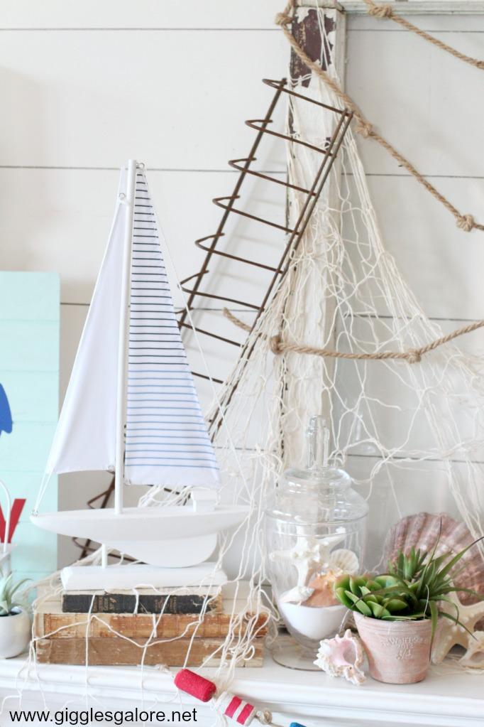 Nautical sailboat decoration