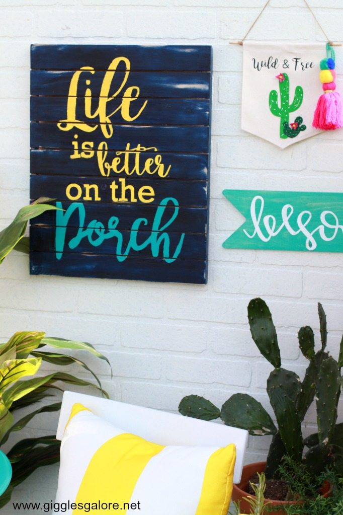 Outdoor patio sign