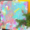 Summer Paint Pour Canvas