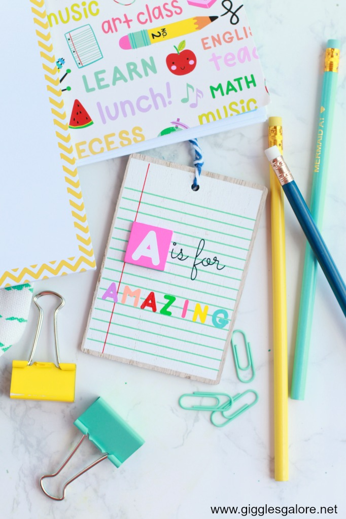 A is for Amazing Teacher Gift Tags