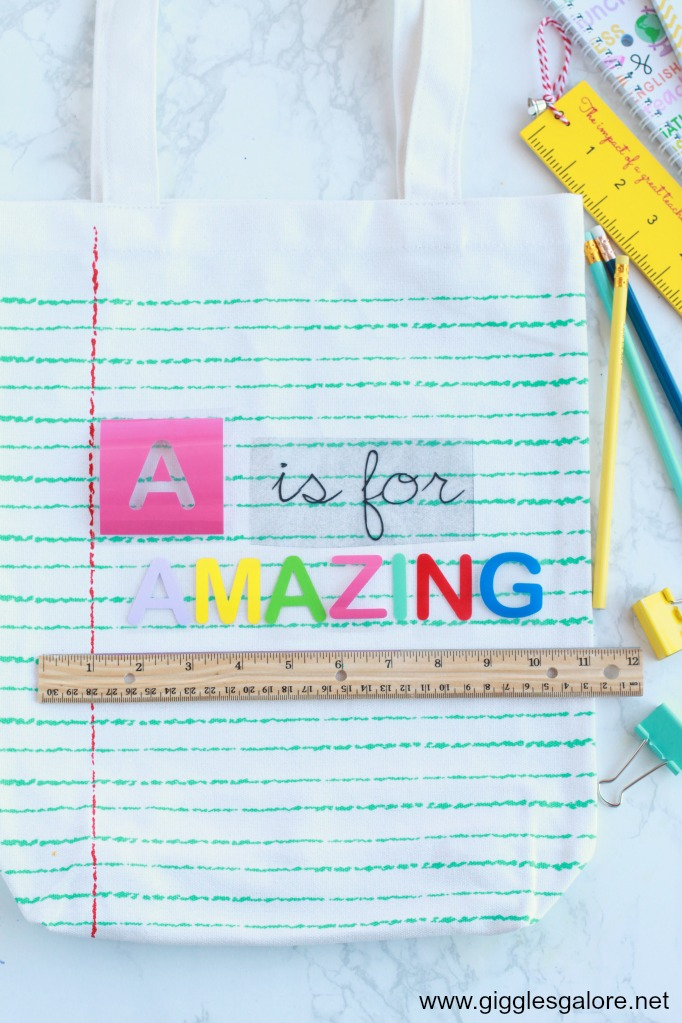 A is for Amazing Teacher Tote Bag