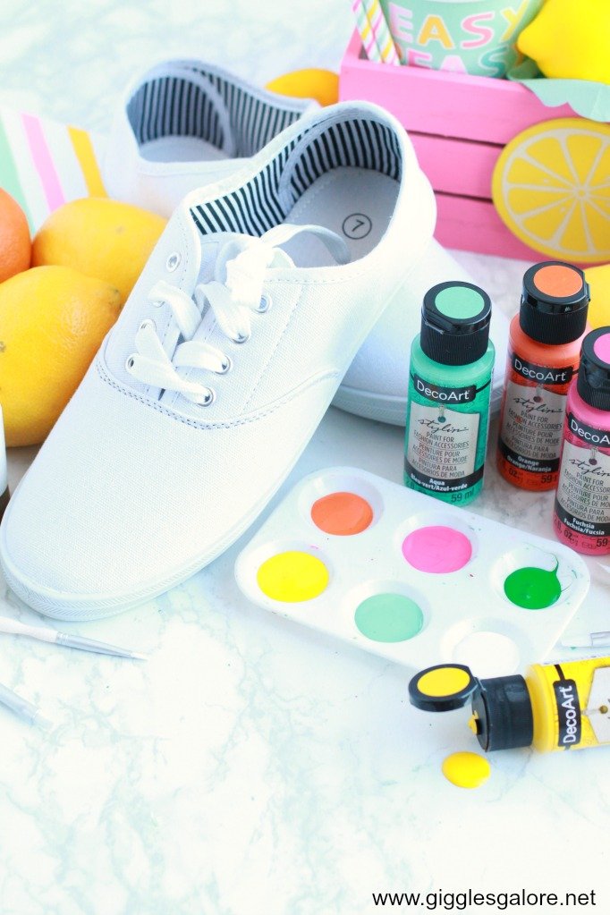 Diy citrus canvas shoe supplies