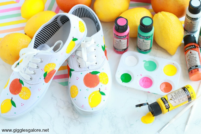 Diy citrus painted shoes gg