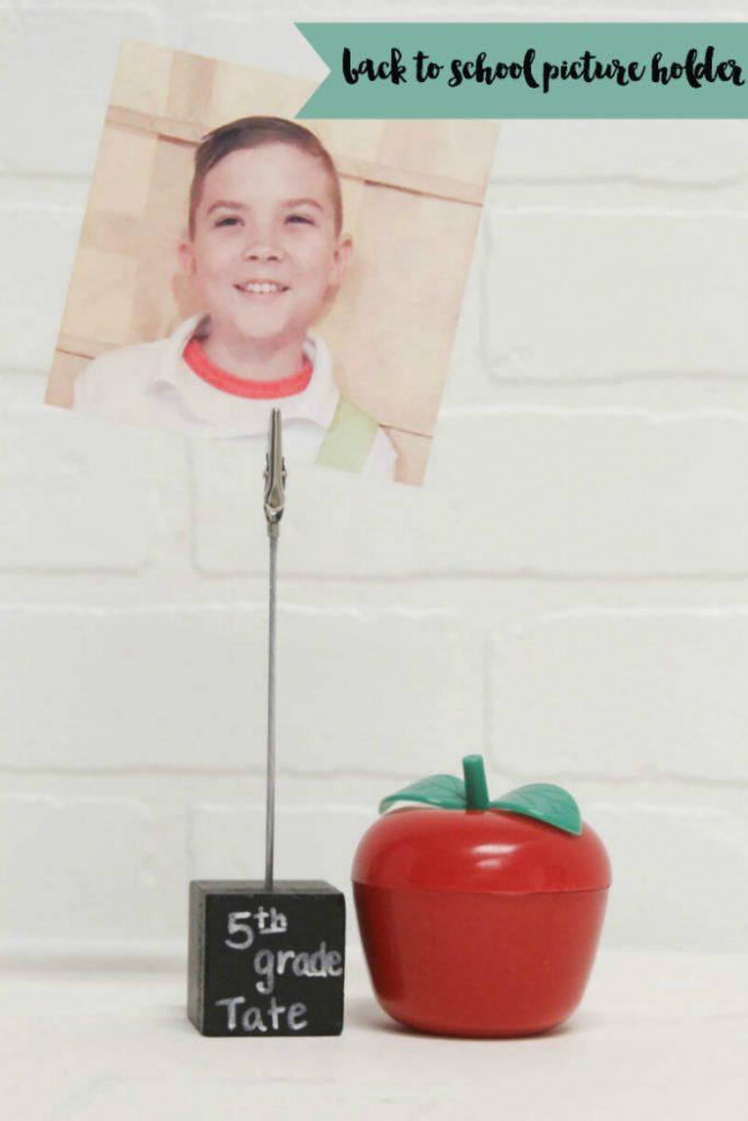 Create a fun back to school photo holder #BackToSchool #DIY
