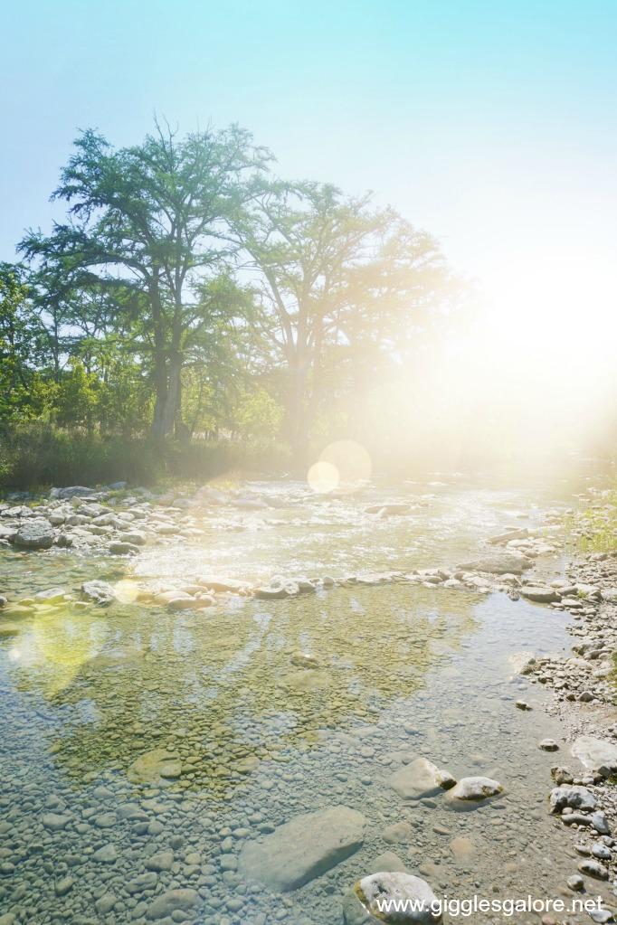 Frio river sunshine