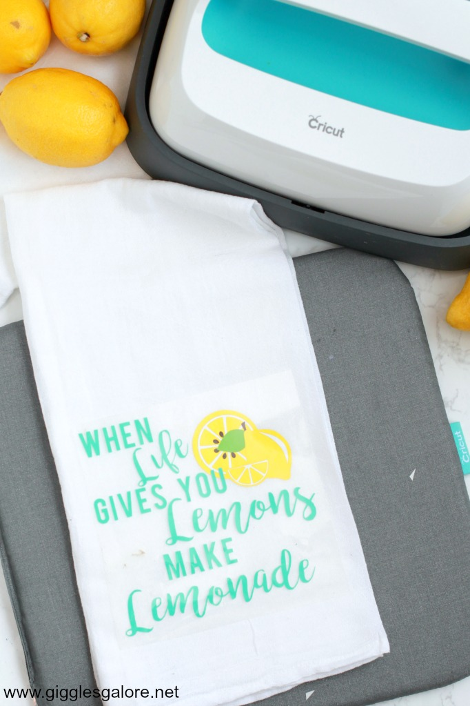 Lemonade tea towel easypress