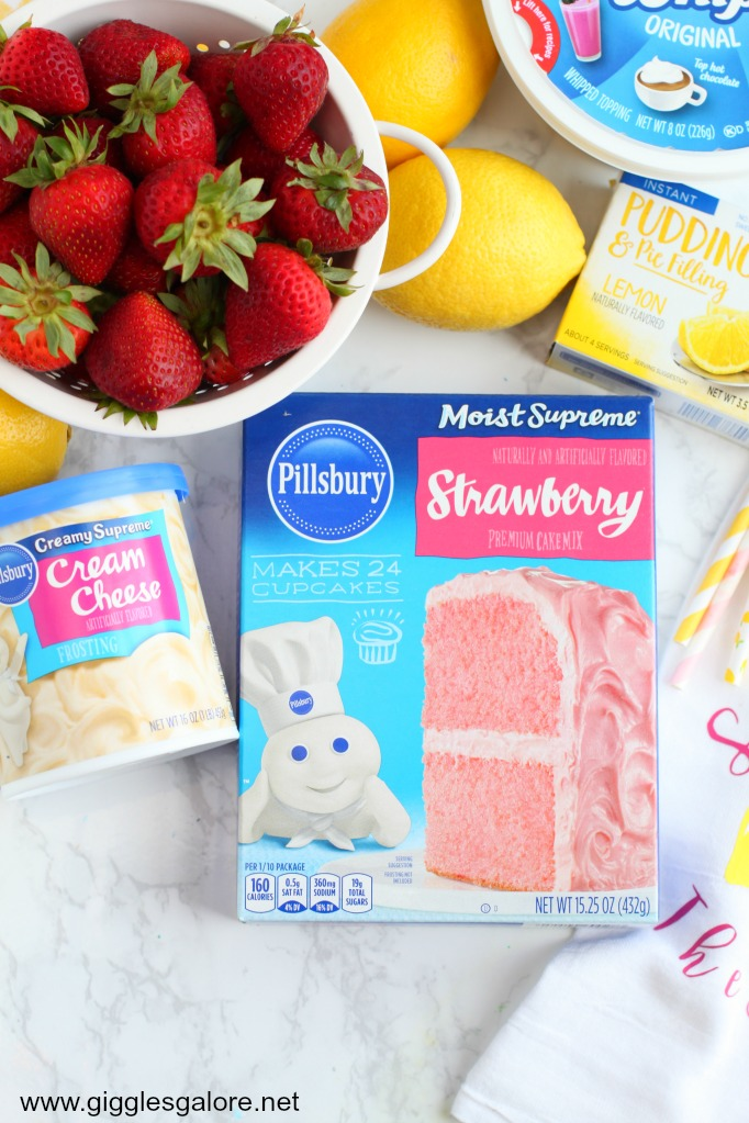 Pillsbury Strawberry Lemonade Cupcakes