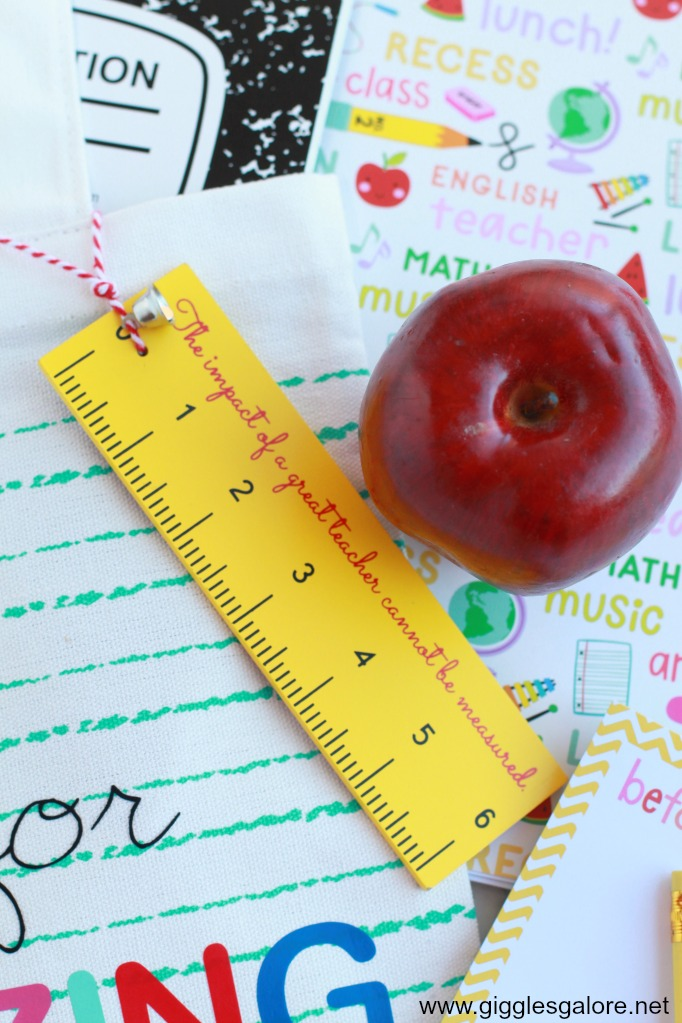 Ruler Teacher Gift Tag