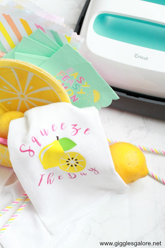 Squeeze the day lemonade tea towel