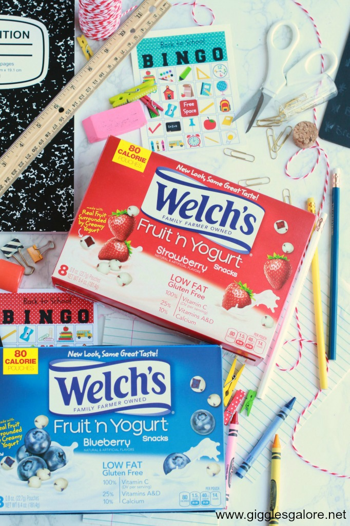 Welch's Fruit 'n Yogurt Snacks Back to School Bingo