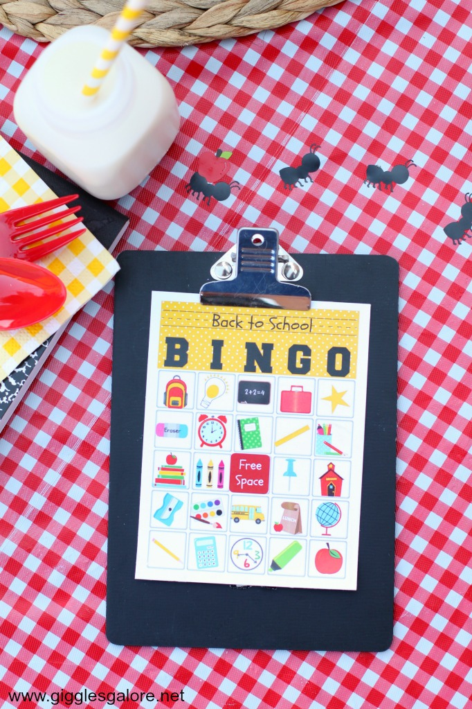Free Printable Back to School Bingo