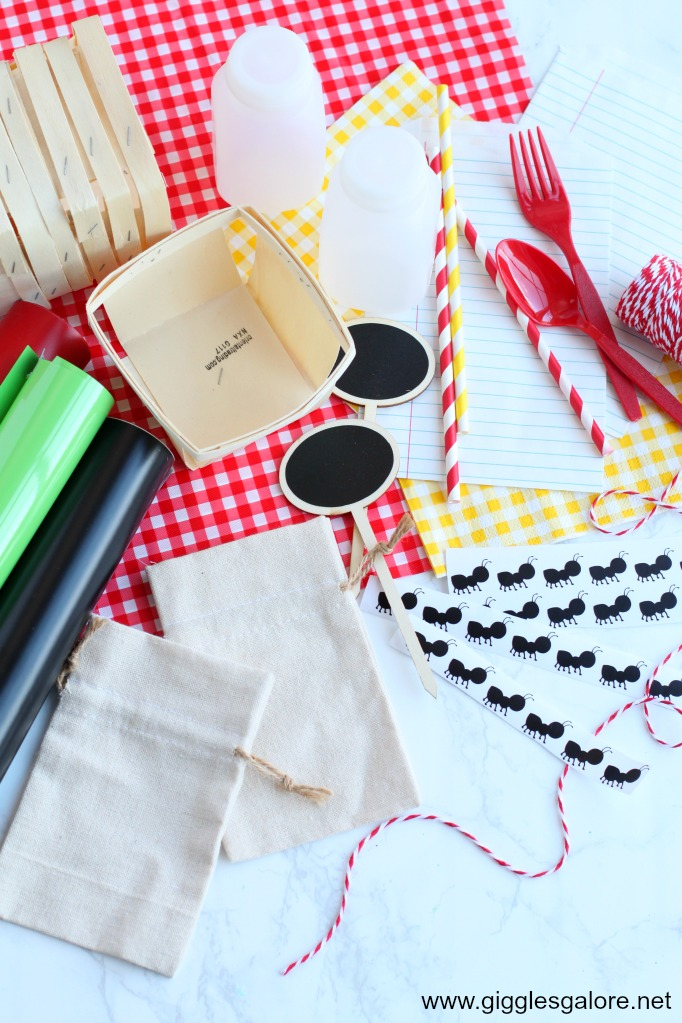 Back to School Picnic Party Favor Bags Supplies
