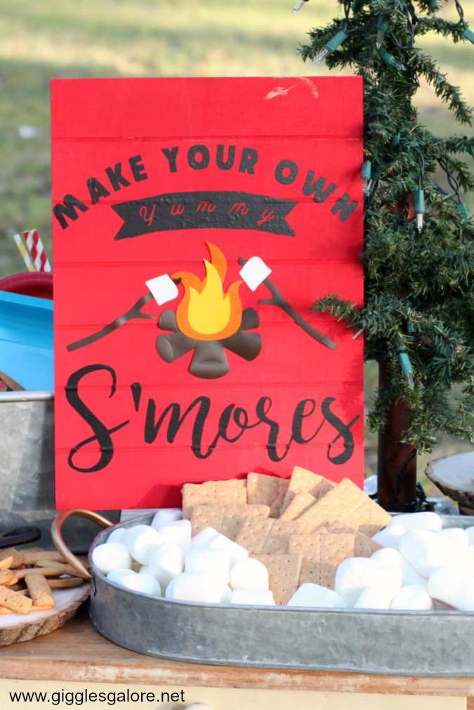 DIY Make Your Own S'mores Wood Sign