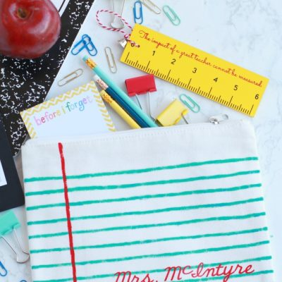 Diy personalized painted pencil pouch