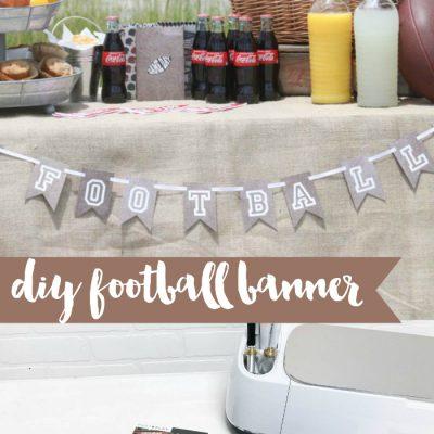 DIY Football Banner
