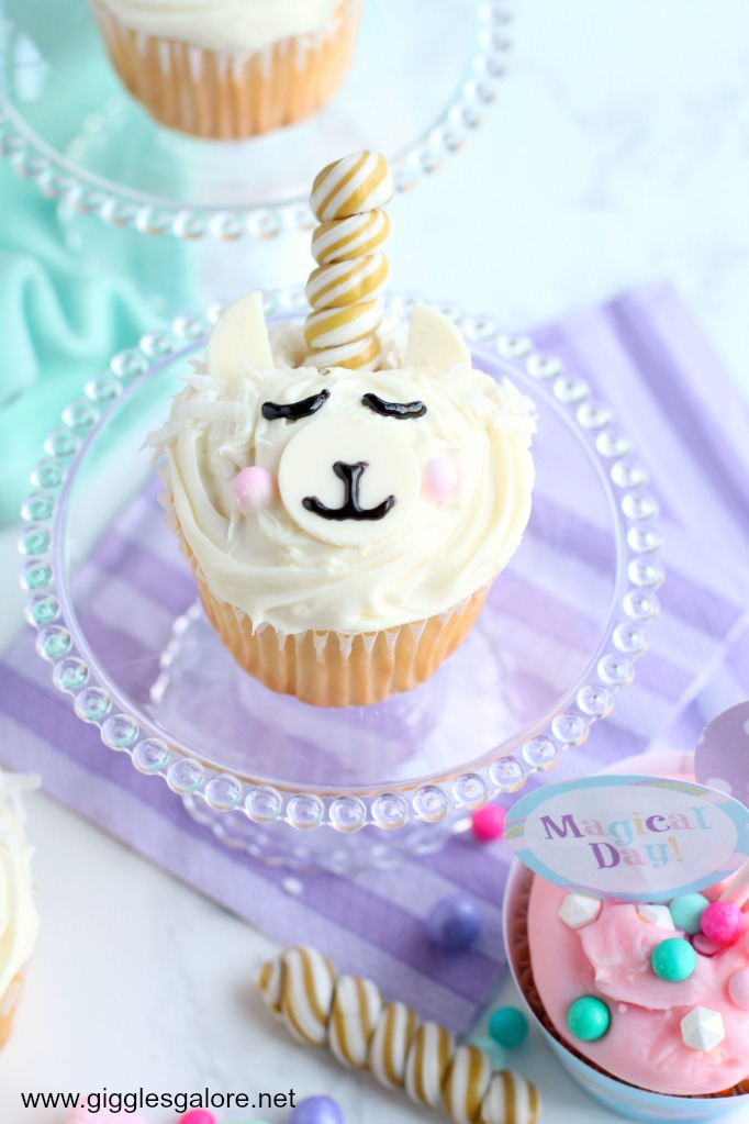 Magical Llamacorn Cupcake