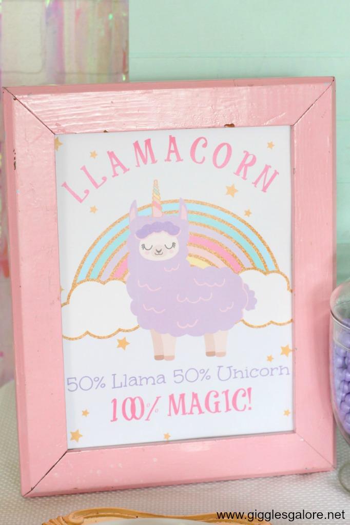 Llamacorn Party Printables