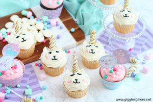 Magical llamacorn cupcakes