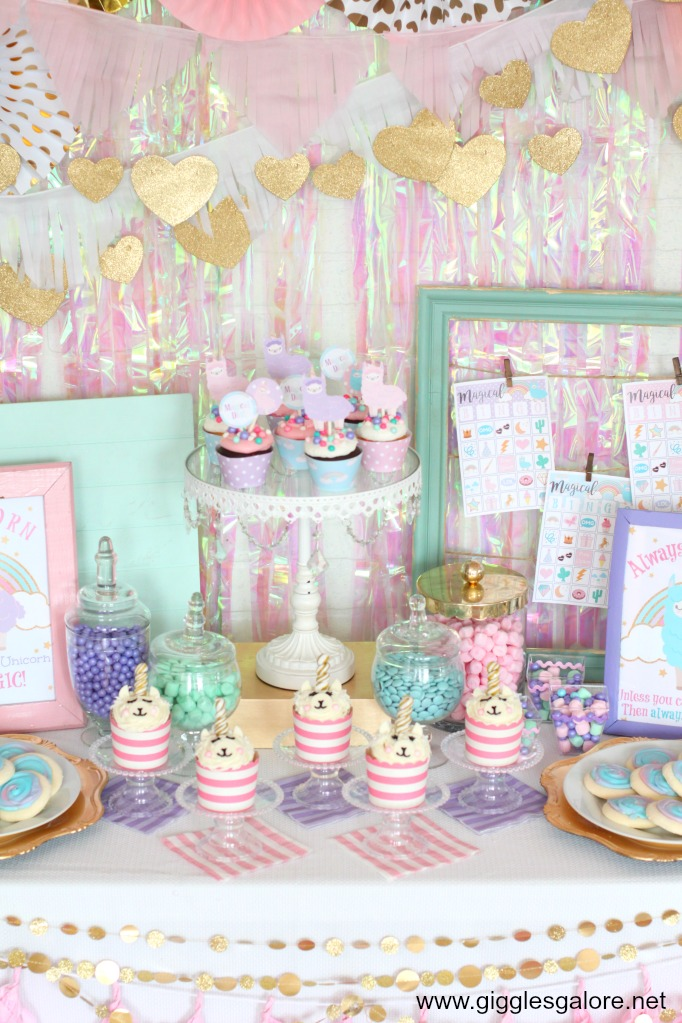 Llamacorn Dessert Table Ideas