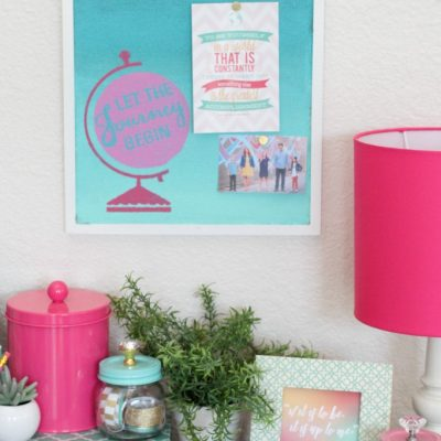 Ombre Painted Corkboard