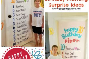 10th birthday tradition birthday morning surprise ideas