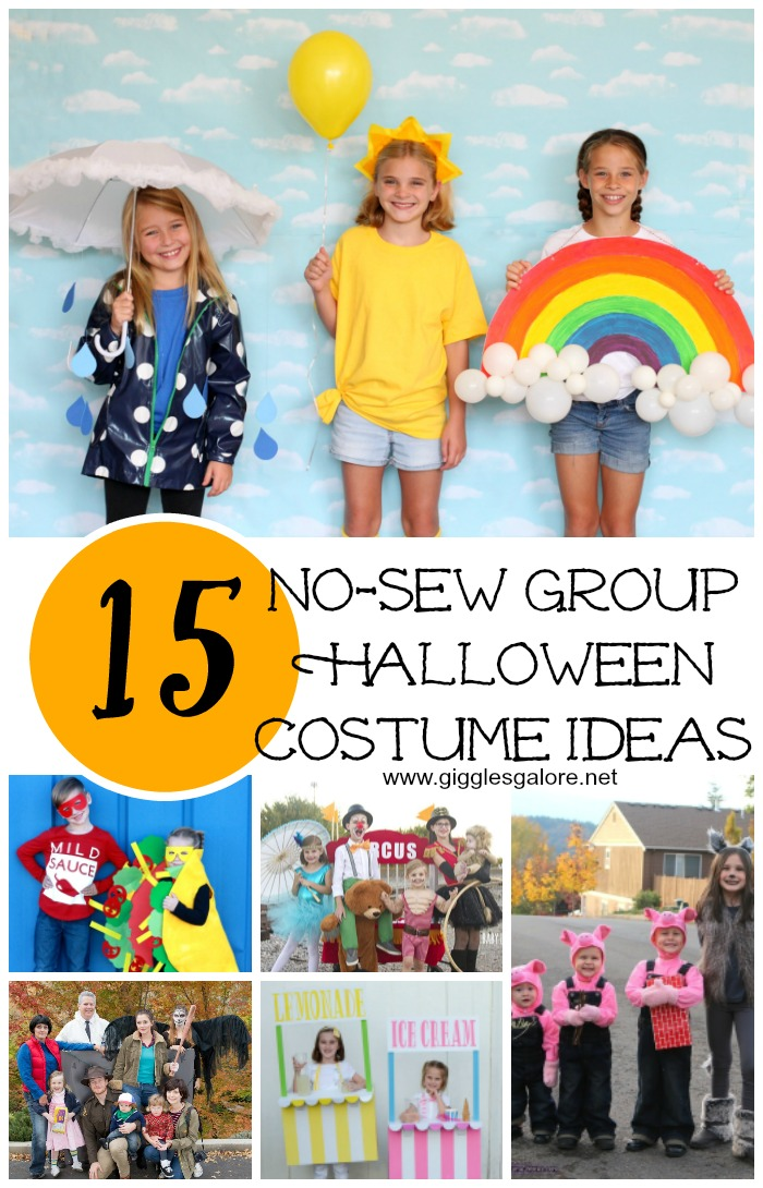 Halloween Group Costume Ideas 2018.15 No Sew Group Halloween Costume Ideas Giggles Galore