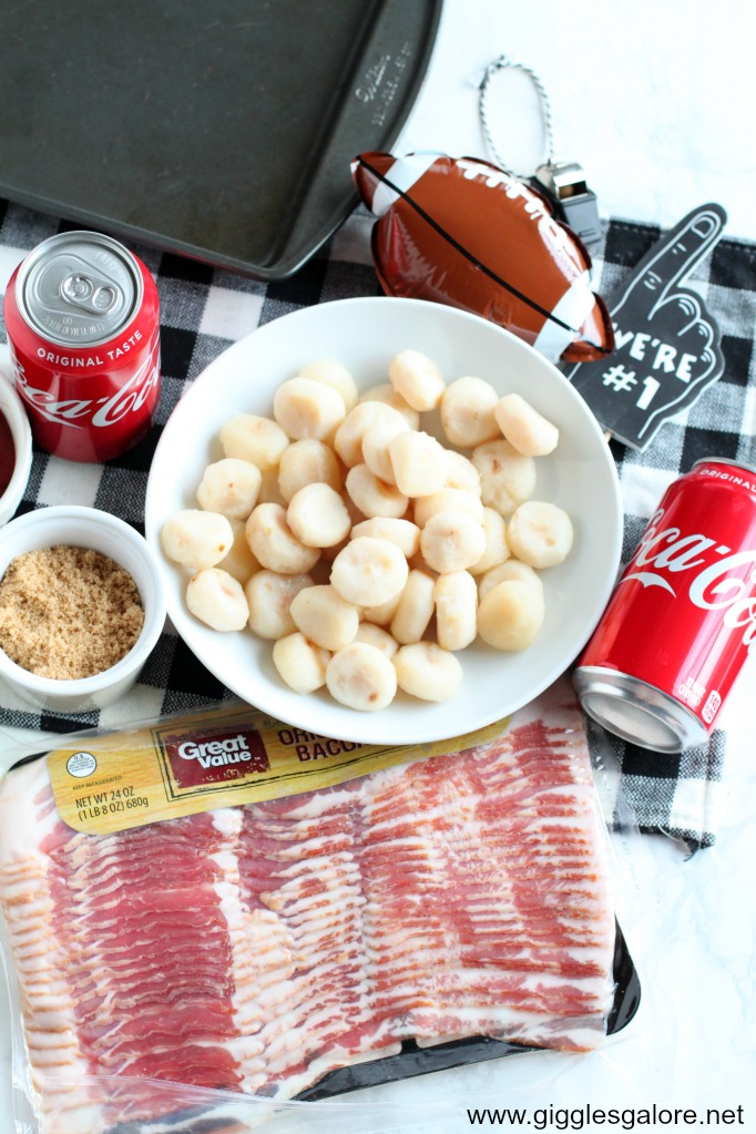 Bacon wrapped water chestnut ingredients