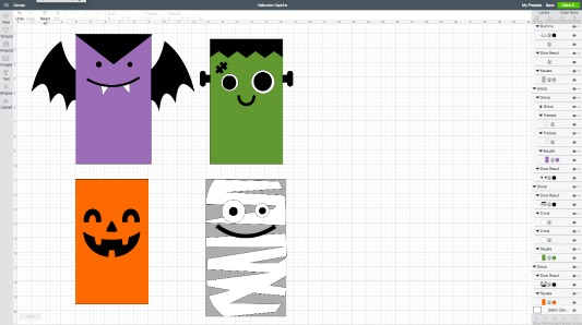 Diy halloween napkins cricut design space file