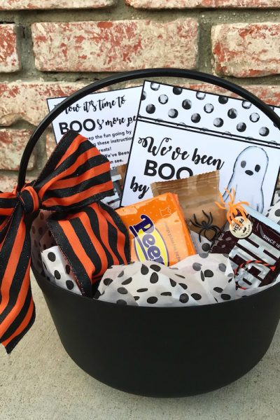 Halloween boo bucket