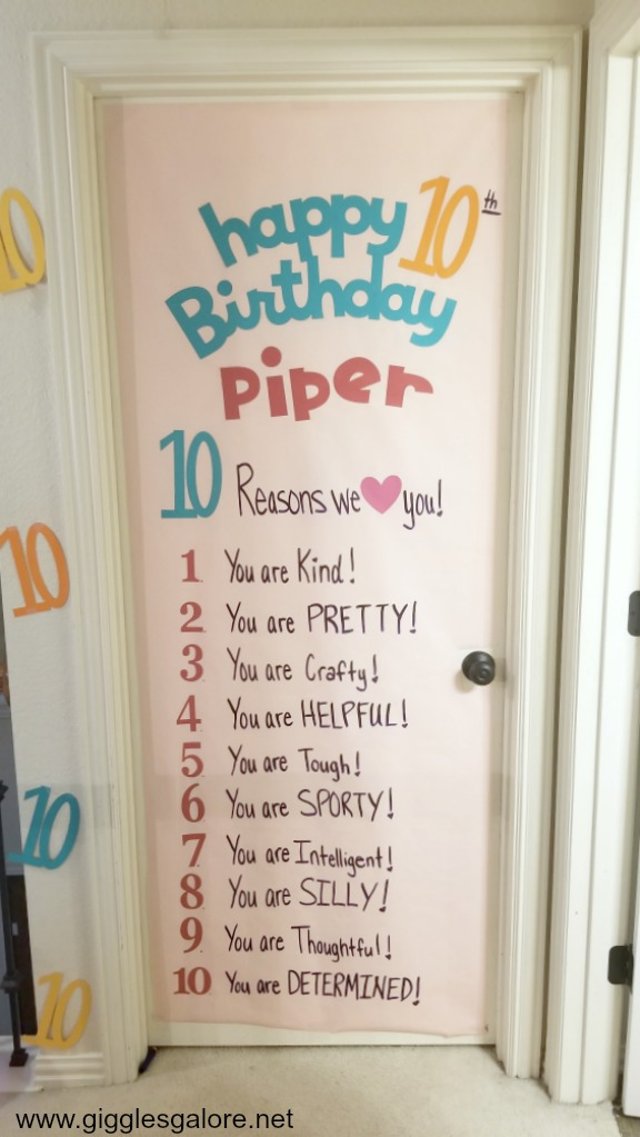 10th Birthday Tradition and Birthday Morning Surprise Idea