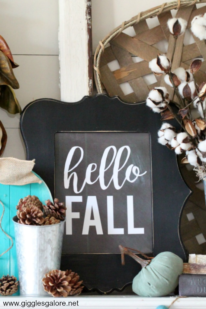 Free Hello Fall Chalkboard Printable