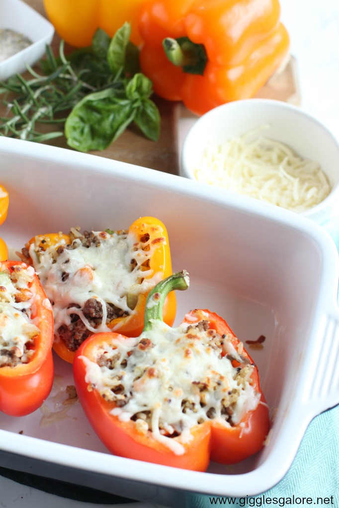 Italian stuffed peppers with cheese