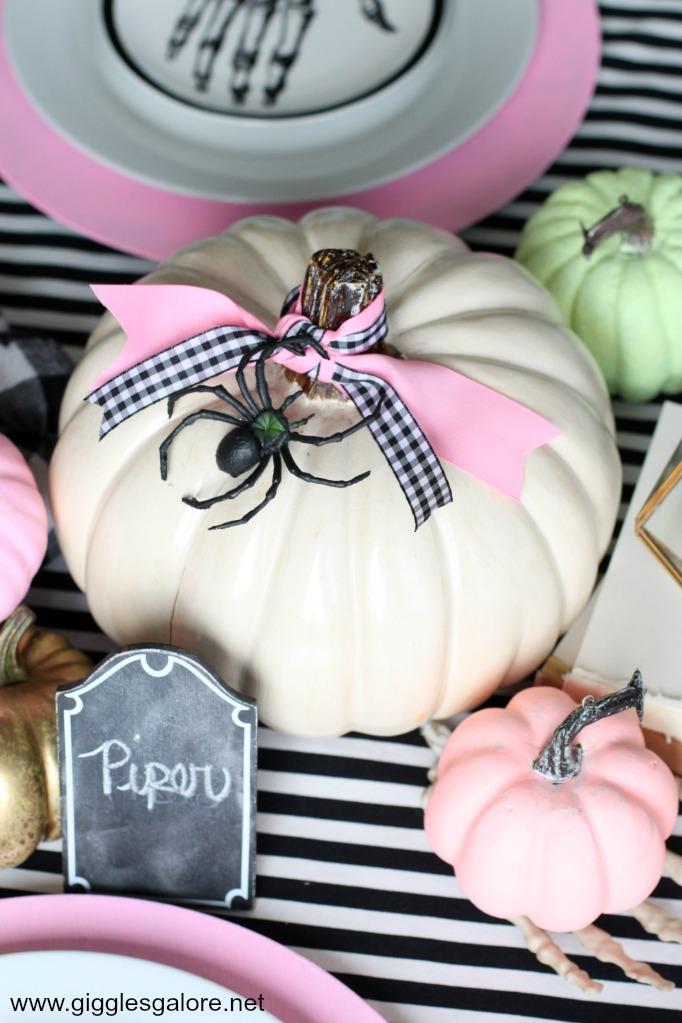 Pastel halloween pumpkins