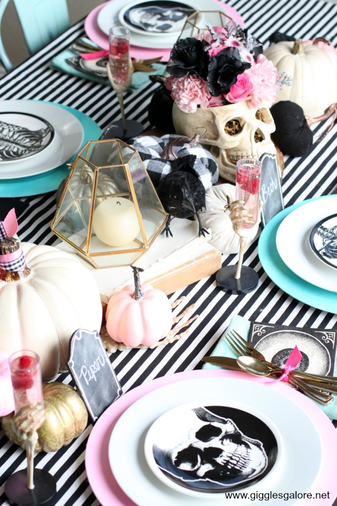 Pastel halloween table setting