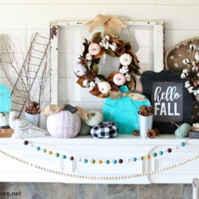 Simple Modern Farmhouse Fall Mantel Decor