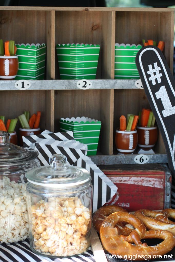 Tailgate popcorn snack bar