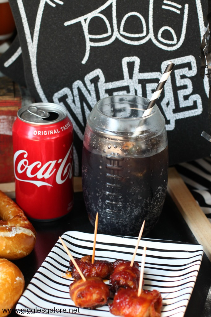 Tailgate snacks and coke
