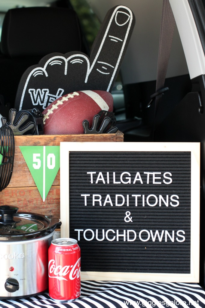 Tailgates traditions touchdowns letterboard