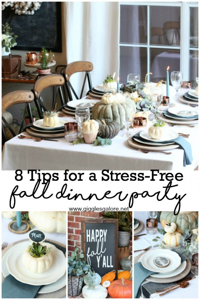 8 tips for a stress free fall dinner party