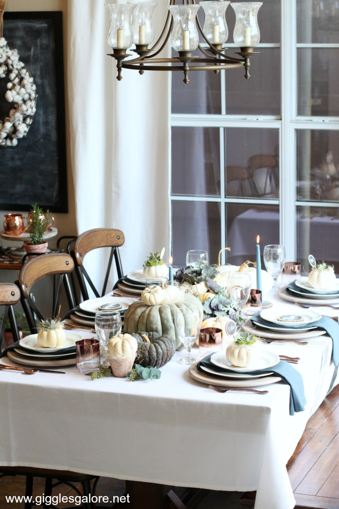 Calloways fall farmhouse table setting