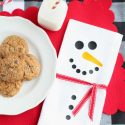 Diy snowman holiday napkin cricut easypress2