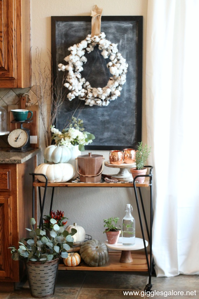 Fall entertaining bar cart