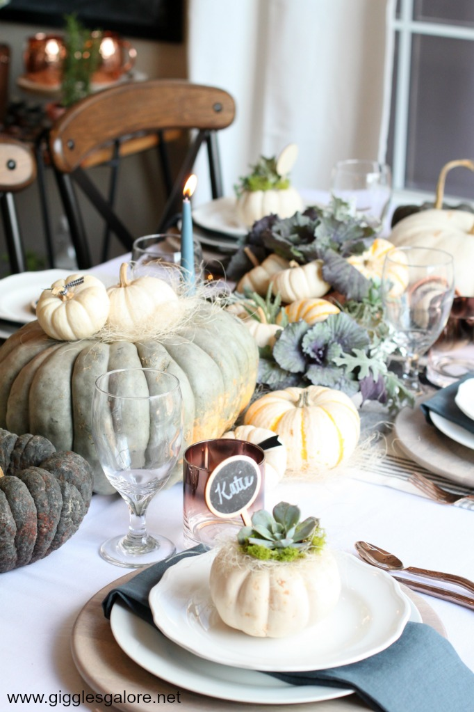 Fall entertaining table setting