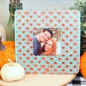 Fall Picture Frame with Metallic Texture