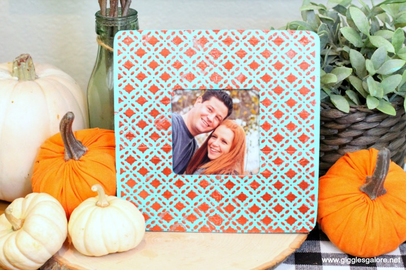 Fall texture picture frame